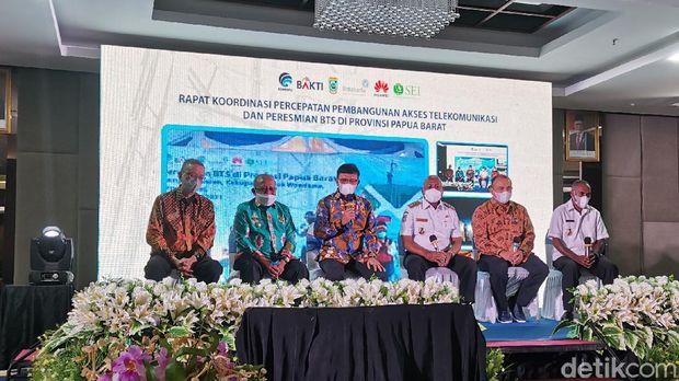 Peresmian BTS di Manokwari, Papua Barat