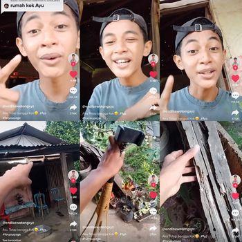 Viral kisah remaja yang sempat diejek karena rumahnya dari kayu, ia tetap bangga.