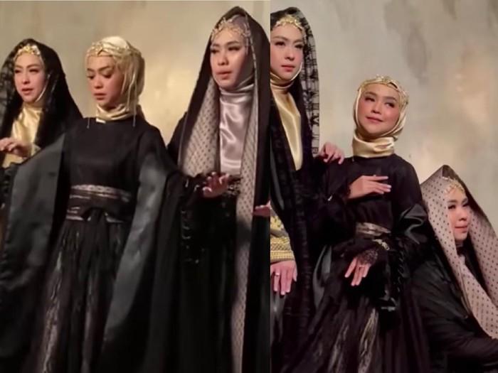Gaya hijab Ria Ricis.