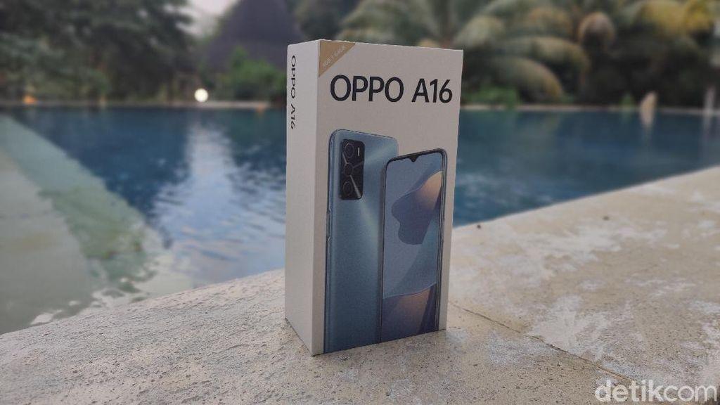 Unboxing Oppo A16, Bawa RAM 4 GB Harga Rp 2 Jutaan