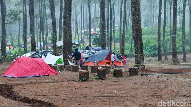 Tempat kemping di Lembang