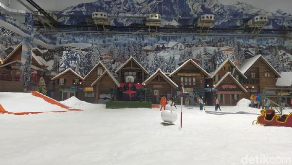 Trans Snow World dibuka lagi pada 8 Oktober 2021. Kapasitas pengunjung dibatasi 25 persen.(Tasya Khairally/detikcom)