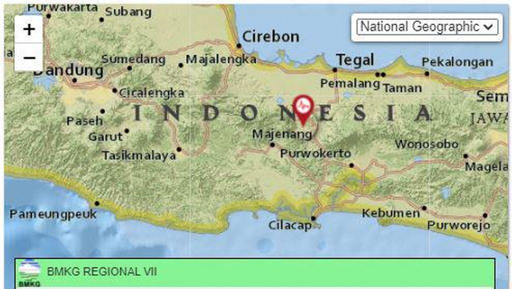 Gempa Darat M 3,3 di Kedalaman 6 Km Terjadi di Tegal