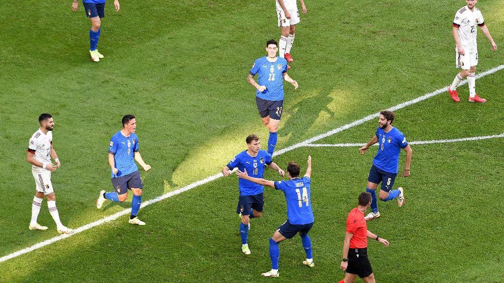 UEFA Nations League: Italia Kalahkan Belgia 2-1