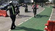 Pesepeda dan Mobil Pelat Ganjil Diputar Balik di Gage Sudirman Pagi Ini