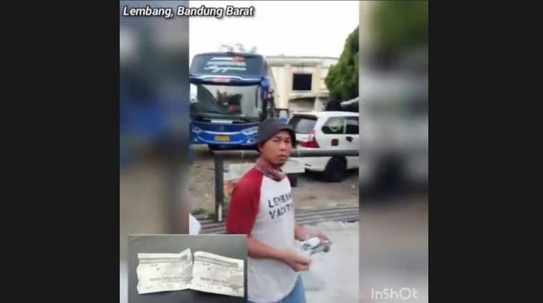 Getok tarif parkir hingga Rp 150 ribu di Lembang.