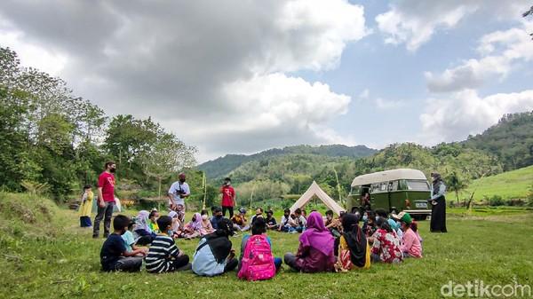 Nama Desa Tinalah diambil dari Sungai Tinalah di Samgaluh(Jalu Rahman Dewantara/detikcom)