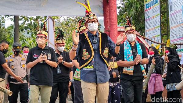 Sandiaga menuturkan, ini merupakan prestasi yang membanggakan. Ada 1.831 desa wisata yang turut serta dalam ajang ini.(Jalu Rahman Dewantara/detikcom)