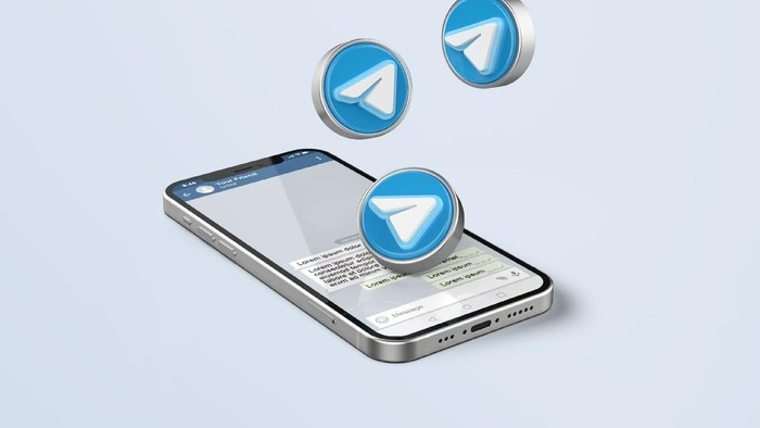 Telegram ilustrasi