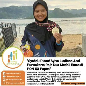 Peraih medali emas dari cabor Dayung Rowing.