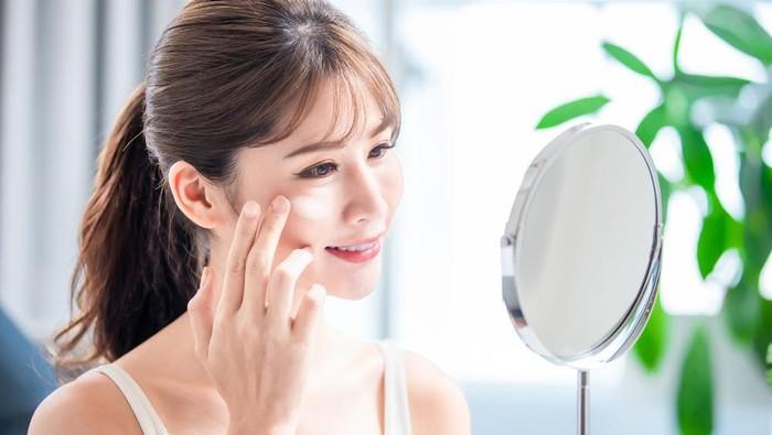 Ilustrasi perawatan wajah.