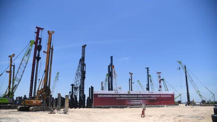 Presiden Joko Widodo resmikan dimulainya proyek smelter PT Freeport Indonesia
