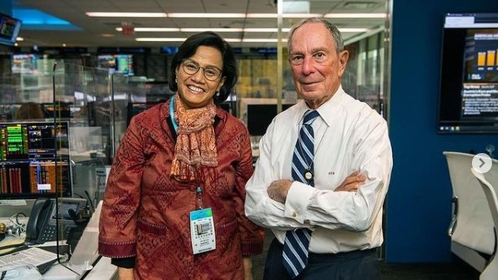 Sri Mulyani Bertemu Michael Bloomberg