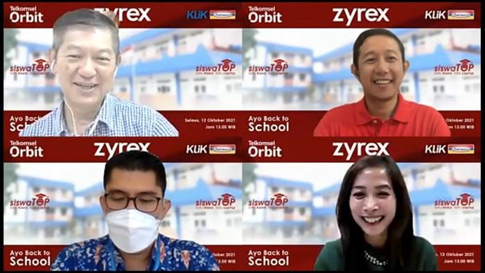 Konferensi pers Zyrex, Telkomsel, dan Indomaret