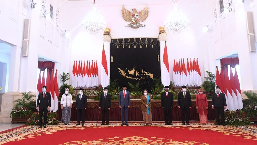 Potret Jokowi Lantik Megawati dkk Jadi Dewan Pengarah BRIN