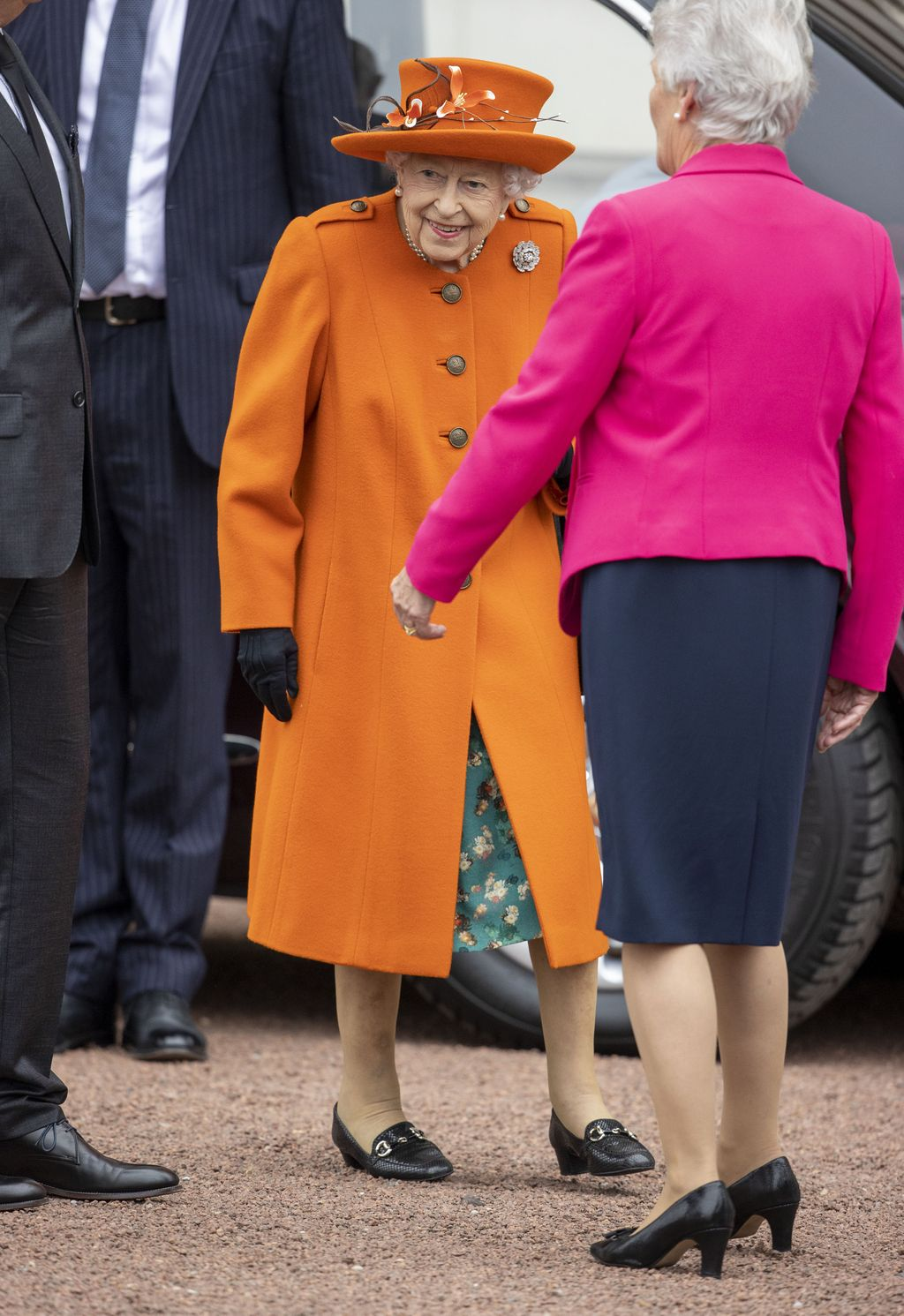 LONDON, ENGLAND - OCTOBER 12: Queen Elizabeth II and Princess Anne, Princess Royal attend a service of Thanksgiving to mark the centenary of The Royal British Legion at Westminster Abbey on October 12, 2021 in London, England. (Photo by Arthur Edwards - WPA Pool/Getty Images)