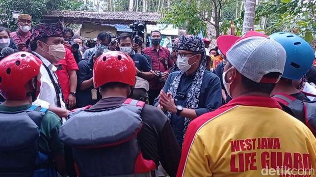 Menparekraf Sandiaga Uno di Pangandaran.