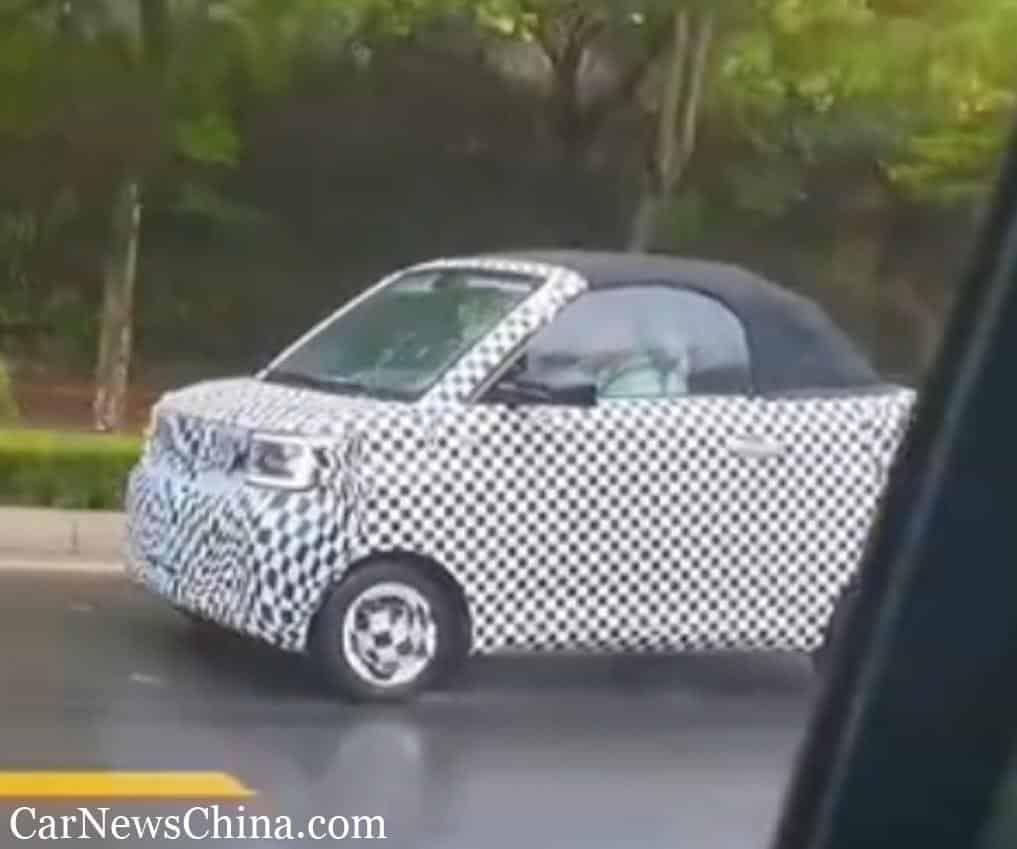 Wuling Mini EV Cabrio tertangkap kamera sedang melakukan tes jalan di China