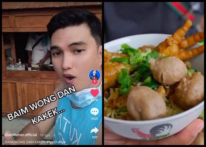Aldi Taher Ajak Baim Wong dan Kakek Suhud Makan Mie Ayam Racikannya