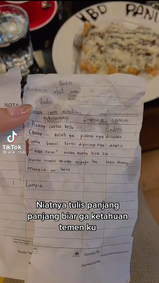 Minta Dituliskan 'HBD', Netizen Ini Malah Diajak Kenalan Pegawai Kafe