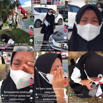 Kisah wanita yang mengikuti tes CPNS viral di media sosial