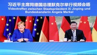 Merkel Gelar Perpisahan Virtual dengan Xi Jinping, Apa yang Dibahas?