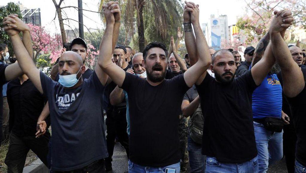 Demo Ledakan Beirut Diwarnai Tembakan, 3 Orang Tewas dan Puluhan Luka