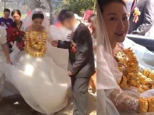 Viral Pernikahan Sultan, Pengantin Wanitanya Pakai Kalung Emas 60 Kg