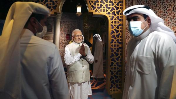 Sejumlah patung lilin tokoh dunia pun dipamerkan di sana. Mulai dari pemimpin dunia seperti Perdana Menteri India Narendra Modi hingga mantan presiden Amerika Serikat Donald Trump.