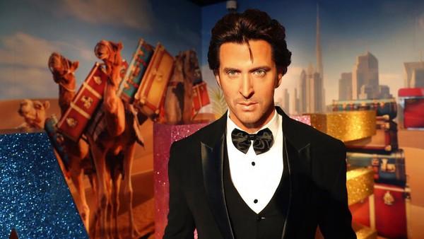 Penampakan patung lilin bintang Bollywood Hrithik Roshan di Madame Tussauds Dubai yang merupakan cabang pertama museum patung lilin tersebut di Timur Tengah.
