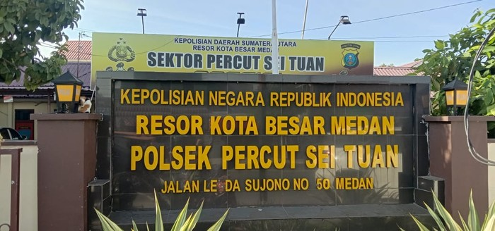 Polsek Percut Sei Tuan (Ahmad Arfah-detikcom)