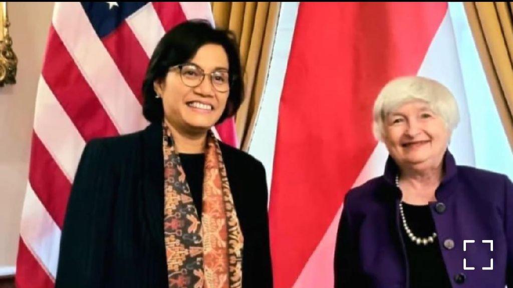 Sri Mulyani Bertemu Menkeu AS Janet Yellen, Ngomongin Apa?