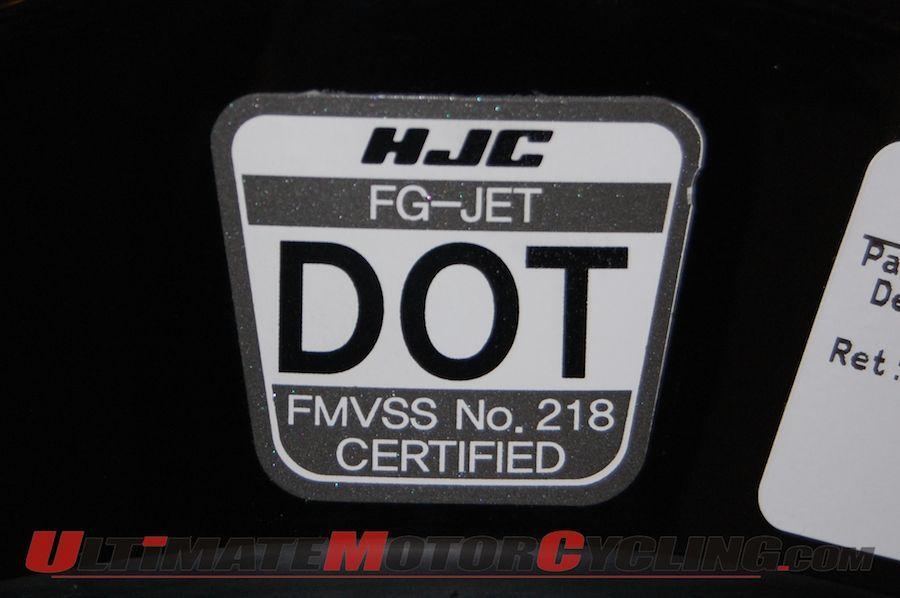 Stiker Standarisasi Helm DOT