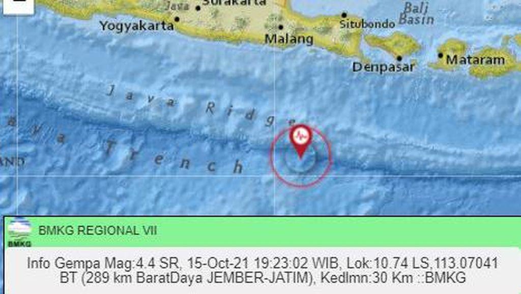 Warga Tak Rasakan Getaran Gempa Jember M 4,4