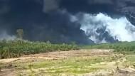 2 Pekan Berlalu, Semburan Api di Sumur Minyak Ilegal Sumsel Belum Padam