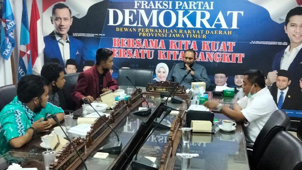 Diskusi dan Terima Masukan Mahasiswa, Demokrat Jatim Komitmen Bela Rakyat