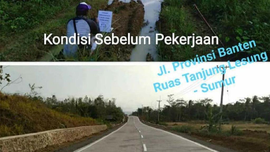 Gubernur Banten Pamer Jalan Provinsi yang Kini Mulus di Instagram