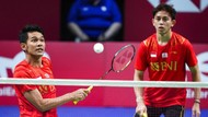 Aksi Fajar/Rian Bawa Indonesia Unggul 2-0 di Final Piala Thomas