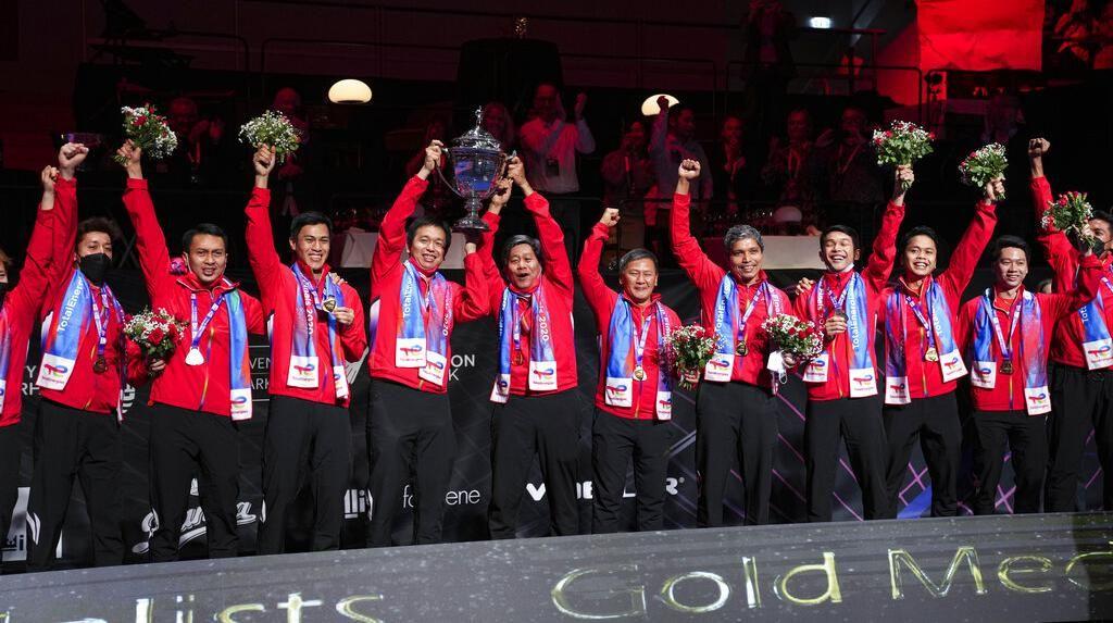 Kalahkan China 3-0, Indonesia Juara Piala Thomas 2020