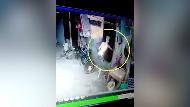 Jurus Indik-indik Manusia Silver Curi HP Terekam CCTV