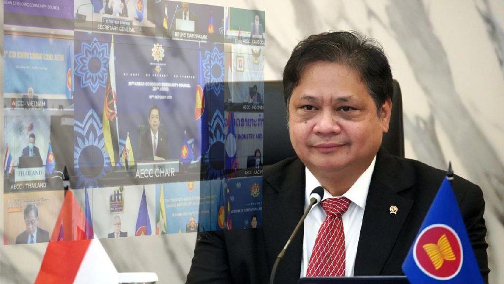 Di Forum ASEAN, Airlangga Bicara Pentingnya Transformasi Digital