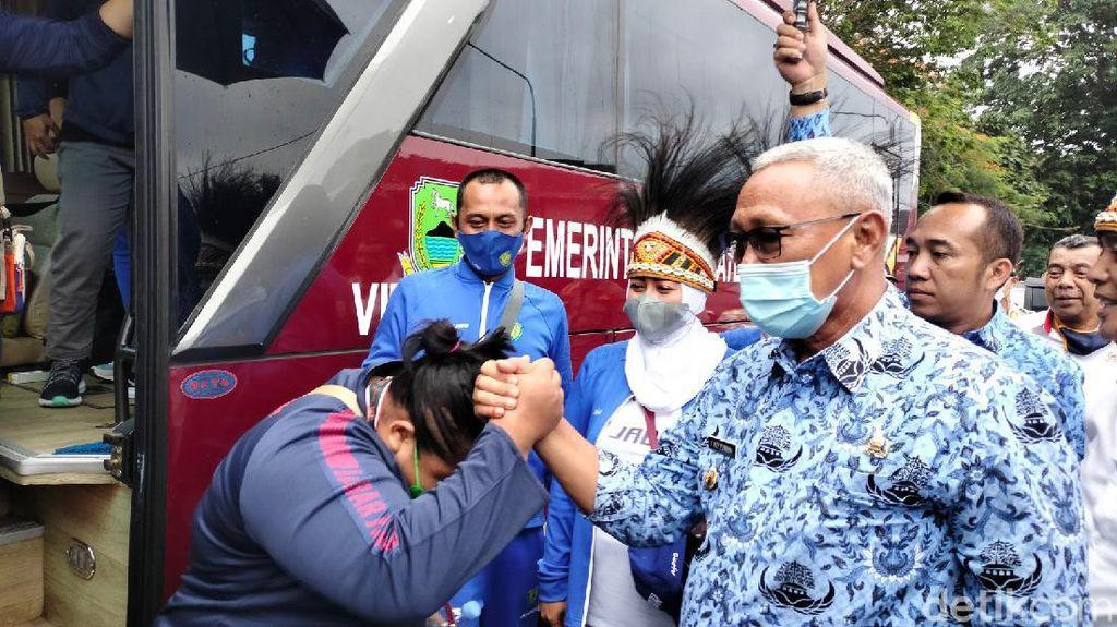 Pulang Kampung, Atlet PON Papua Asal Kuningan Disambut Bak Pahlawan