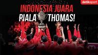 Hasil Indonesia dalam Sejarah Piala Thomas (Thomas Cup)