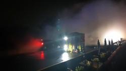 Brimob Cek Tumpahan Bahan Kimia Imbas Kecelakaan di Tol Tangerang-Merak