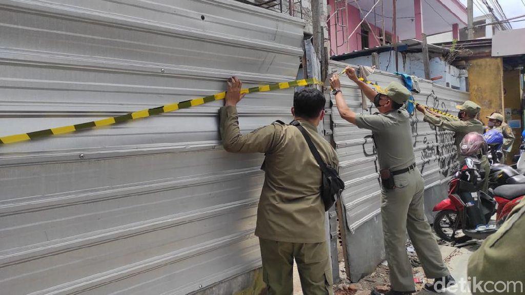 Satpol PP Hentikan Pembangunan Ruko Tanpa IMB di Kota Mojokerto