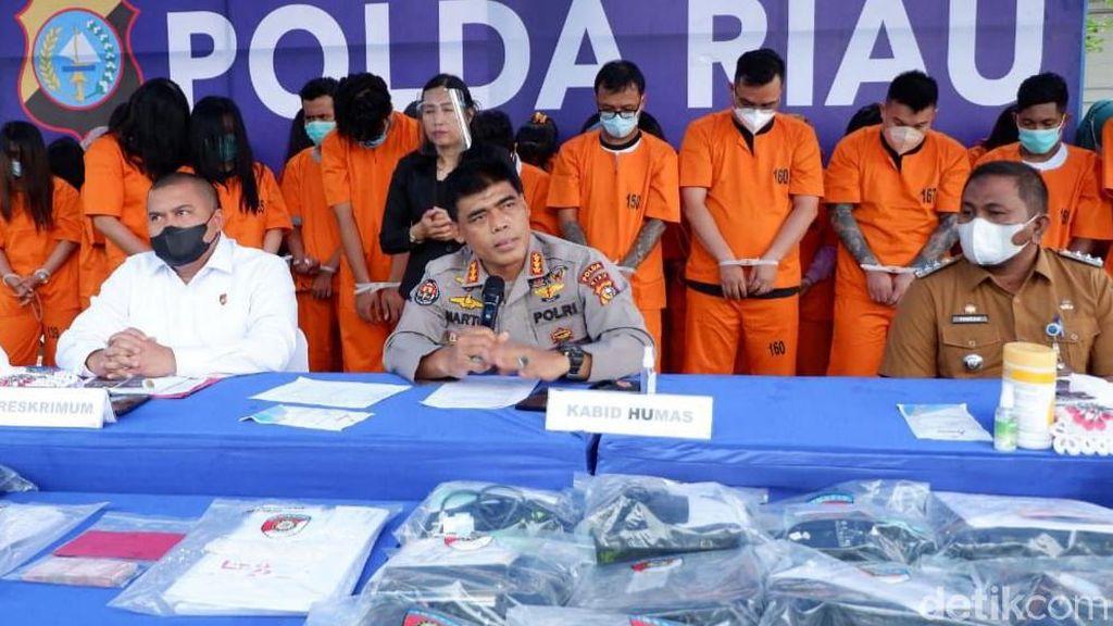 Polisi Bongkar Judi Online Omzet Puluhan Juta, 59 Orang Ditangkap di Pekanbaru