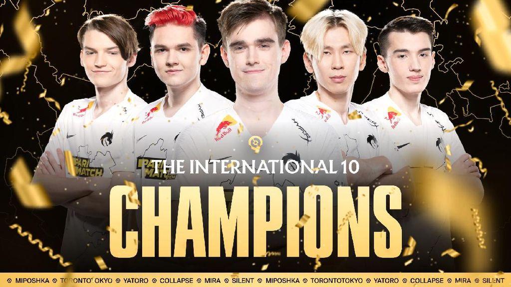 Team Spirit Juara TI 10 Dota 2 dan Sabet Hadiah Rp 253 miliar