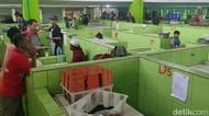 Hebring Euy! Ratusan PKL Huni Pasar Modern Limbangan Garut