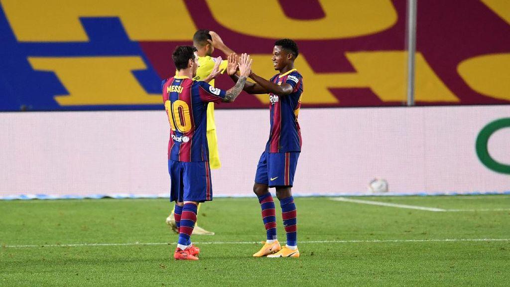 Soal Ini, Ansu Fati Lebih Jago dari Lionel Messi