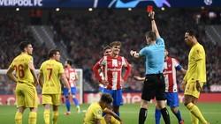 Antoine Griezmann Vs Liverpool: 2 Gol + 1 Kartu Merah
